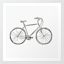 Simple bike 3 Art Print