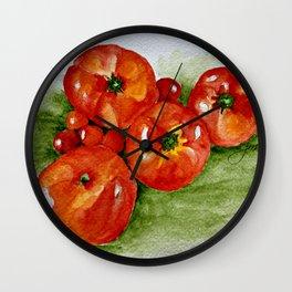 Garden Tomatoes Wall Clock