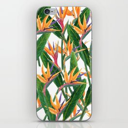 bird of paradise pattern iPhone Skin