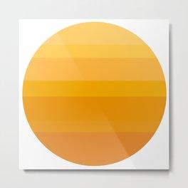 Minimal Sun Metal Print
