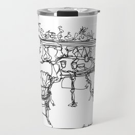 B & G, Happy Anniversary (A Continuous Line Drawing) Travel Mug