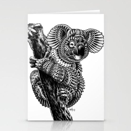 Ornate Koala Stationery Cards