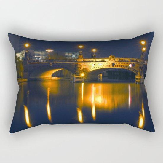 BERLIN NIGHT on the RIVER SPREE Rectangular Pillow