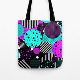Circles, Bubbles And Stripes Tote Bag