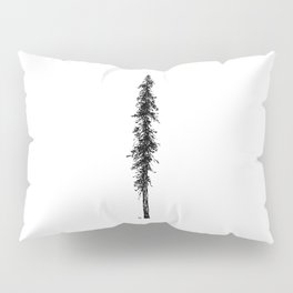 Love in the forest - a couple and their dog under a solitary, towering Douglas Fir tree Pillow Sham