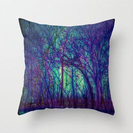 Psyche Trees Throw Pillow