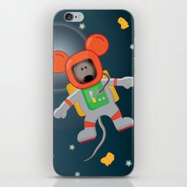 Space Mouse floating in space iPhone Skin