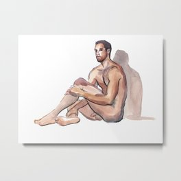 MARK, Nude Male by Frank-Joseph Metal Print