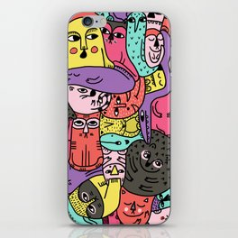 A bunch of monsters iPhone Skin