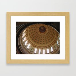 The rotunda of the Capitol building in Madison, Wisconsin Framed Art Print