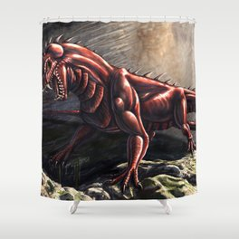 Gargantosaurus Commission Shower Curtain