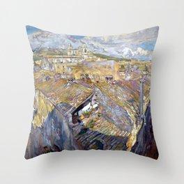 Francesc Gimeno A Village in L'Empordà Throw Pillow