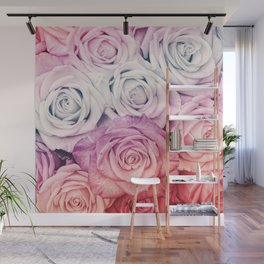 Some people grumble II  Floral rose flowers pink and multicolor Wall Mural