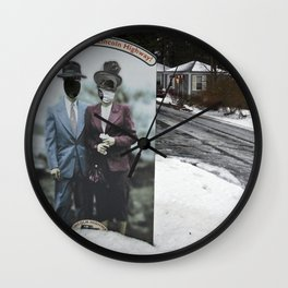 Picture Yourself on the Lincoln Highway I Wall Clock