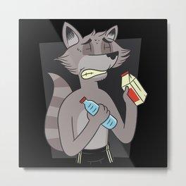 Diet Thin Raccoon Makes Powerless Metal Print