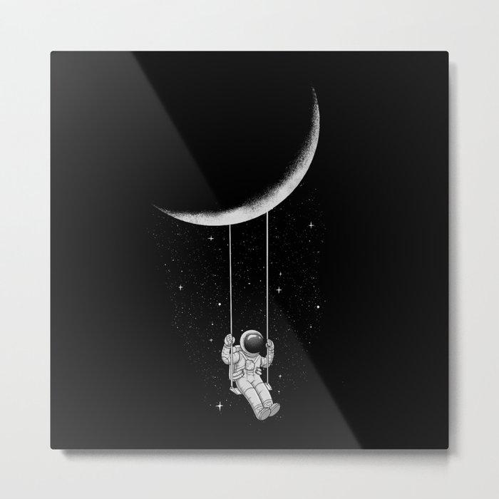 Moon Swing Metal Print