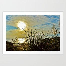 Into the Ocean (color) Art Print
