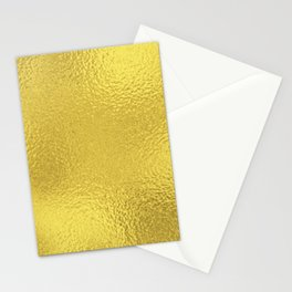 Simply Metallic in Yellow Gold Stationery Cards