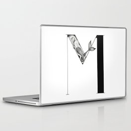 Mermaid Alphabet - M Laptop & iPad Skin