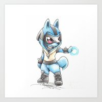 projectrocket Art Prints featuring Isn't he Ad-AURA-ble? by Randy C