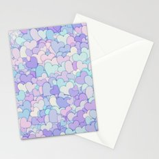 Cute Pastel Hearts 2 Stationery Cards