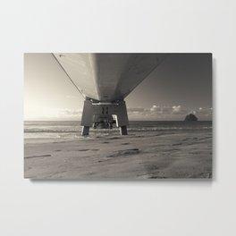 Morning Sea Pier Metal Print