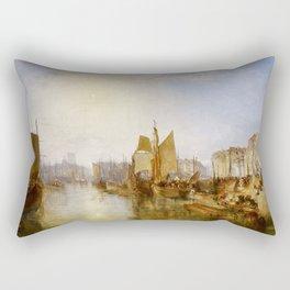 "J.M.W. Turner ""The Harbor of Dieppe"" Rectangular Pillow"