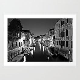 Venitian Canal. Santa Croce, Venice, Italy Art Print