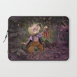 Rucus Studio Pumpkin Man and Fireflies Laptop Sleeve