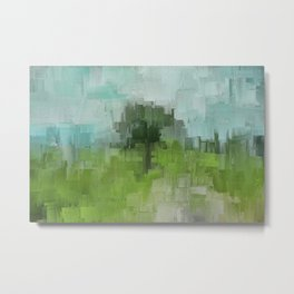 Spring Breeze Abstract Expressions Metal Print