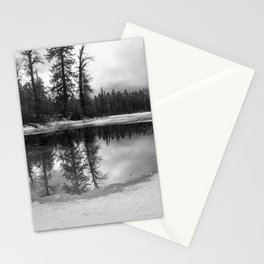 Sun Rays on a Melting Lake Stationery Cards