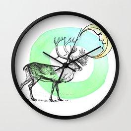Reindeer Moon Wall Clock