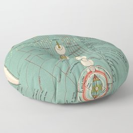 The Ordering of Paradise Floor Pillow