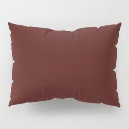 Mahogany Solid Color Block Pillow Sham