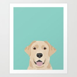 Yellow Lab dog portrait labrador retriever dog art pet friendly Art Print