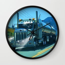 On the Highway Home Wall Clock