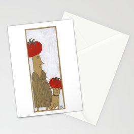 Tomato hat Stationery Cards