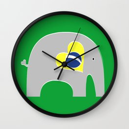 Brazilian Elephant Wall Clock