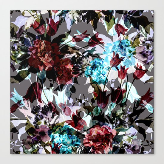 Seamless Absract Flower Pattern Canvas Print
