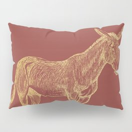 Gold donkey on chili oil Pillow Sham