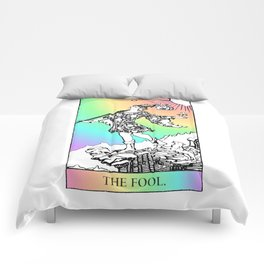 0. The Fool- Pastel Rainbow Tarot Comforters