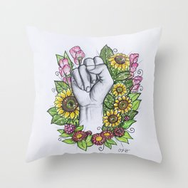 """""""S"""" ASL alphabet series Throw Pillow"""