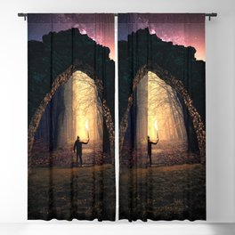 The Portal at Castle Ruins in Sweden Blackout Curtain