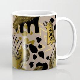 Gold Dinosaurs Background Coffee Mug