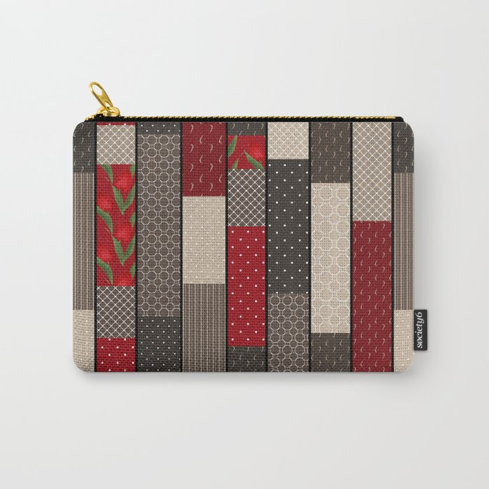 Country motifs . Classic quilting. Carry-All Pouch