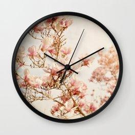 Magnolias, No. 14z Wall Clock
