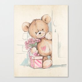 Bear in The Room Canvas Print