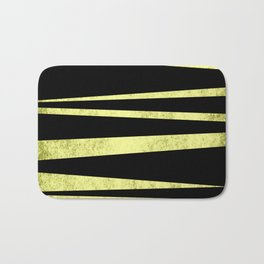 Black and Gold Flags Bath Mat