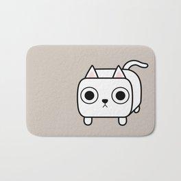 Cat Loaf - White Kitty Bath Mat