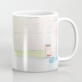 """over flow"" abstract painting in robin's egg, mint, blush, white, and yellow Coffee Mug"